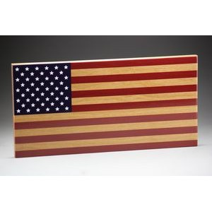 "9"" x 18"" - Hardwood American Flag - USA-Made"