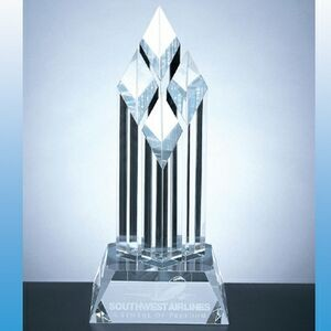 "12"" Superior Diamond Crystal Award - Sand Blast"
